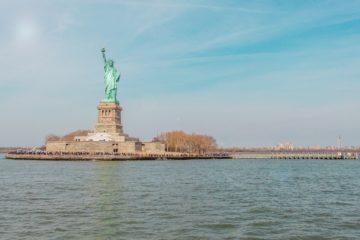 Die Freiheitsstatue in NYC