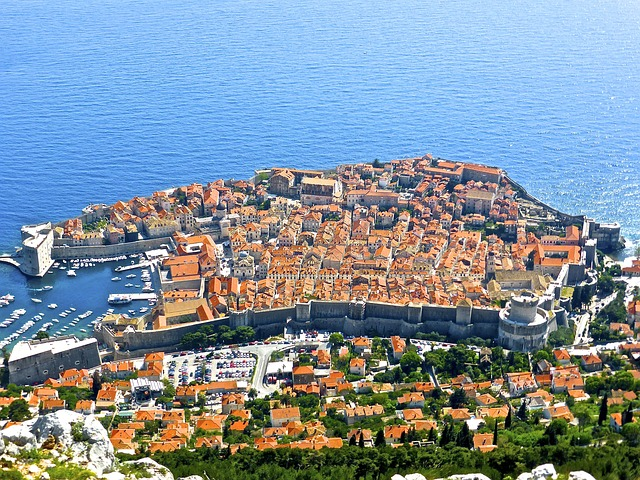 Blick auf die Stadtmauer Dubrovnik