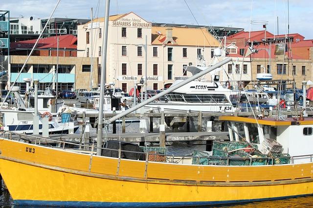 Hobart Hafen, Australien