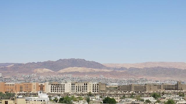 Blick auf Aqaba, Jordanien