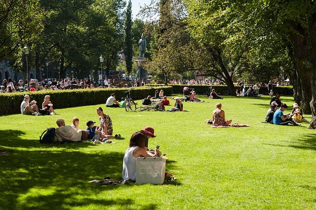 Ein Park in Helsinki