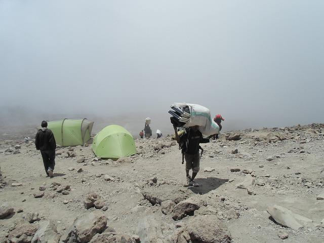 Zeltlager am Kilimandscharo