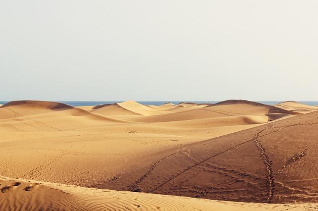 Die berühmte Sanddüne auf Gran Canaria