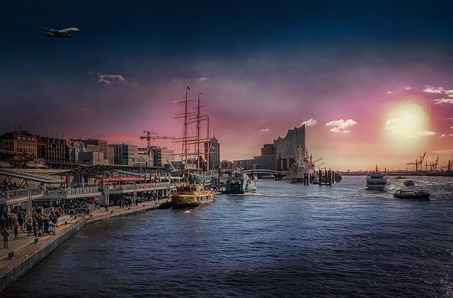 Kostenloser Hafen Hamburg Spaziergang