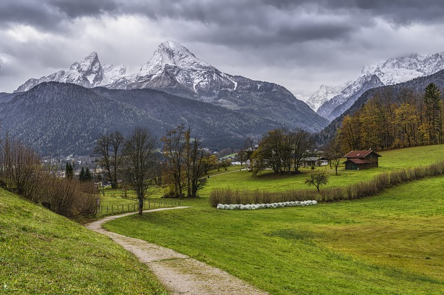 Blick auf den Watzmann im Bayerische Wald