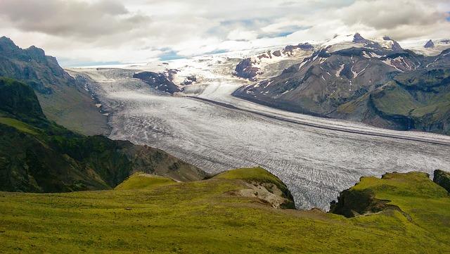 Blick auf die Gletscher von Vatnajökull