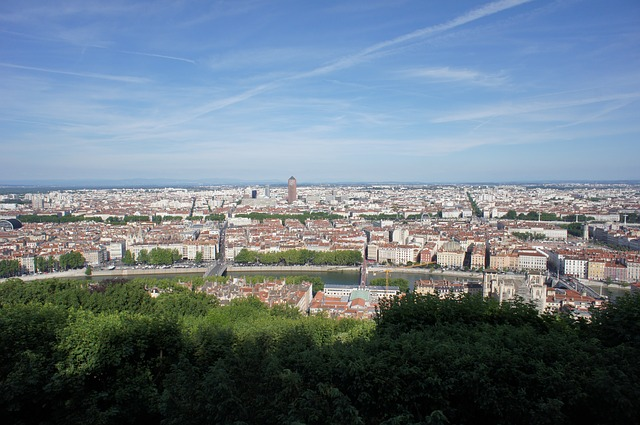 Blick von La Croix-Rousse in Lyon