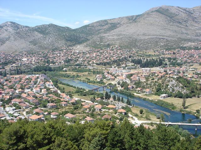 Blick auf Trebinje, Bosnien Herzegowina
