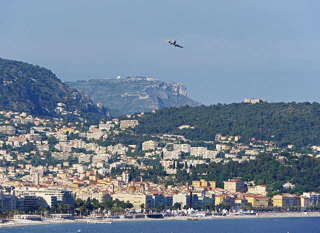 Landeanflug auf Nizza
