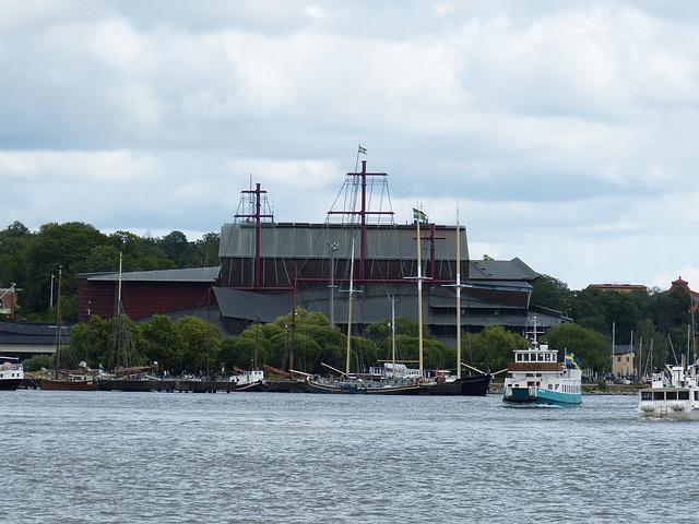Der Blick auf das Vasa Museum