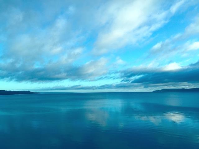 Himmel am Vättern See