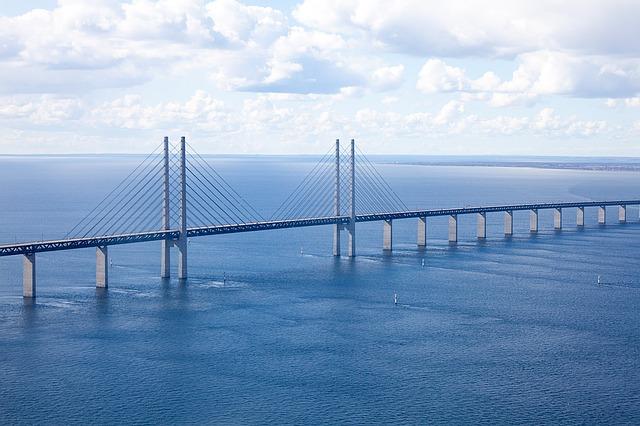 Öresund Brücke von Malmö nach Kopenhagen