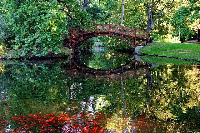 Der romantische Clara-Zetkin Park in Leipzig