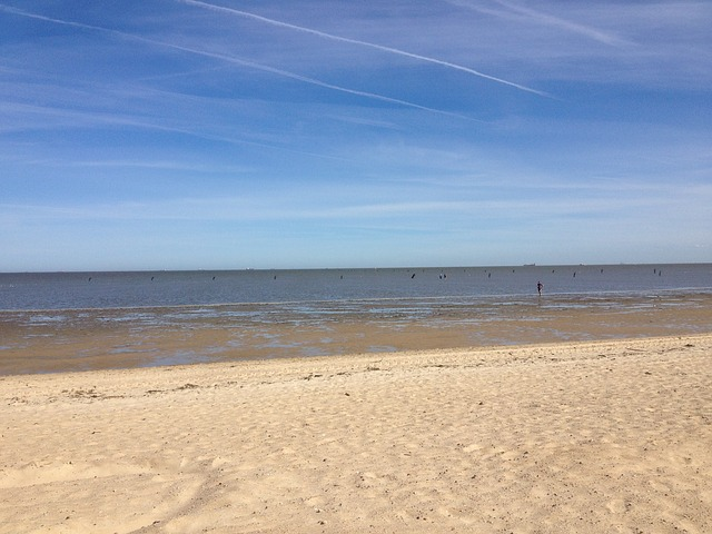 Der lange Sandstrand von Cuxhaven Duhnen