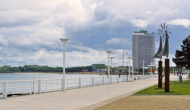Die Promenade von Travemünde